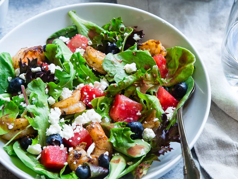 Closeup of healthy salad