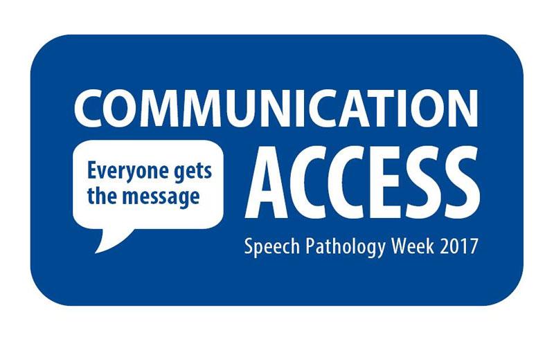 Communication Access Speech Pathology Week logo
