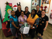 Staff at Palm island community centre